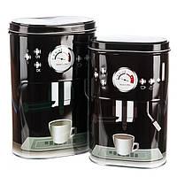"""Набор для чая и кофе """"Сладкая парочка"""" (black) (084JH) жесть, фото 1"""
