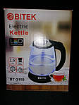 Чайник электрический Bitek BT-3110 Серый 1.8L 2400W LED подсветка, фото 2
