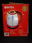 Чайник электрический Bitek BT-3110 Серый 1.8L 2400W LED подсветка, фото 6