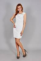 Модное однотонное летнее платье для девушек