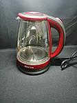 Чайник электрический Bitek BT-3110 Красный 1.8L 2400W LED подсветка, фото 2