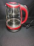 Чайник электрический Bitek BT-3110 Красный 1.8L 2400W LED подсветка, фото 3