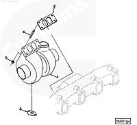3537132, 4033173, 3802770 Турбокомпрессор (Турбина) на двигатель Cummins, Куминс, Каминс 6BT