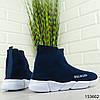 """Кроссовки женские синие в стиле """"Balenciaga"""" текстильные , фото 6"""