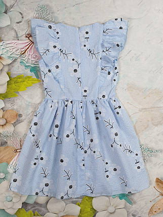 Летнее платье для девочки Куколка р.104-122 голубой, фото 2