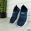 """Кроссовки женские синие """"Wobsher"""" текстильные , фото 8"""