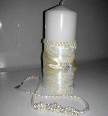 Весільні свічки ручної роботи
