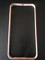 Золотой бампердля Iphone 6/6S металлический, фото 1