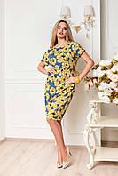Летнее нарядное женское платье размеры 46-56