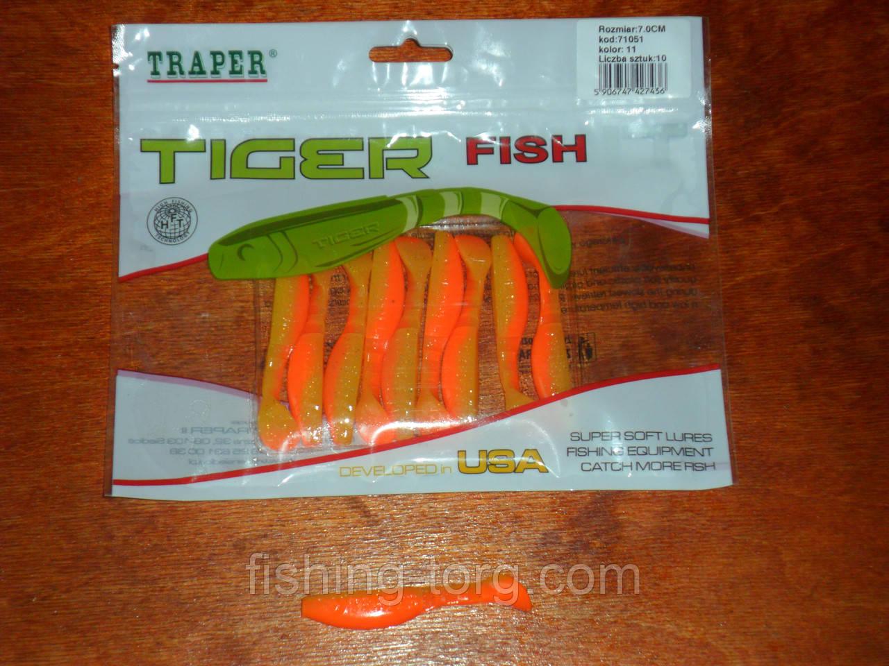Силиконовые приманки TIGER 70mm