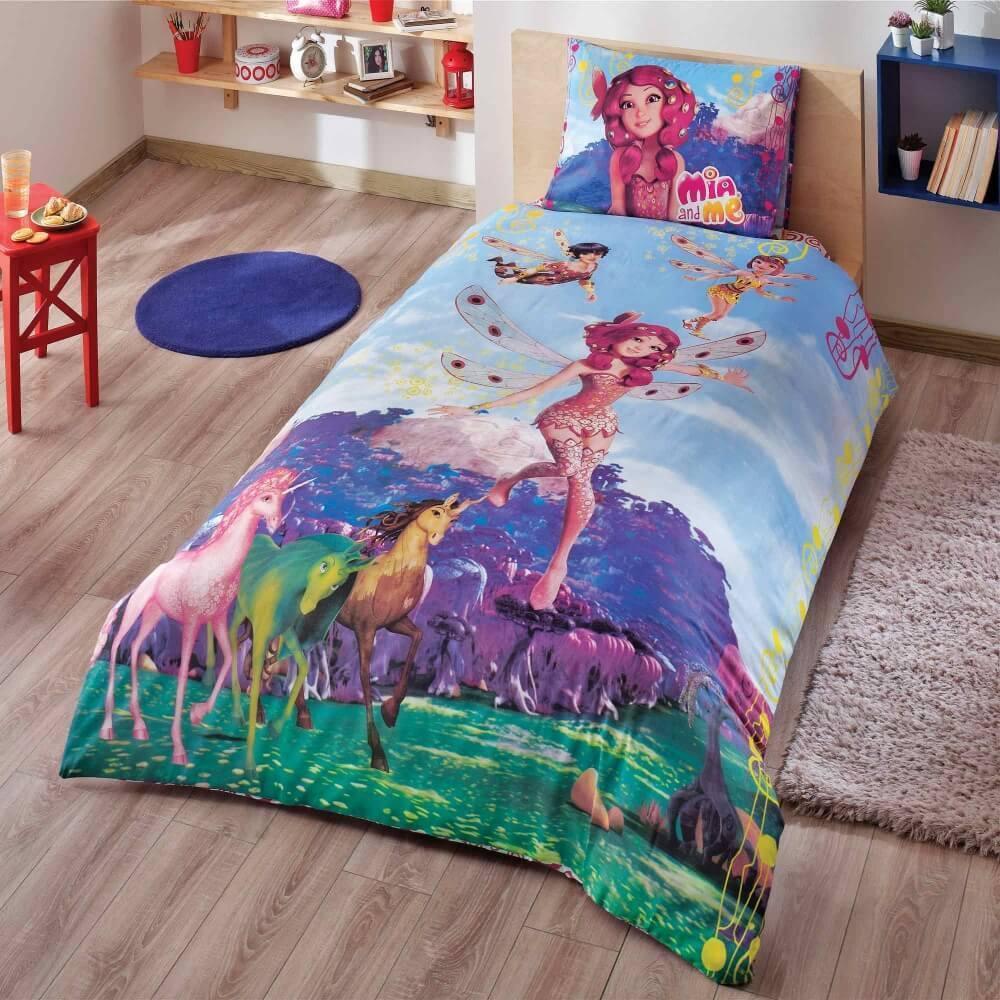 Детское подростковое постельное белье TAC Disney Mia And Me Fairy Ранфорс