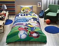 Детское подростковое постельное белье TAC Disney Mickey Goal Ранфорс