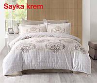 Двуспальное евро постельное белье Altinbasak Sayka Krem Сатин