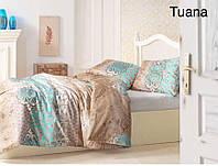 Семейное постельное белье Altinbasak Tuana Kahve Ранфорс