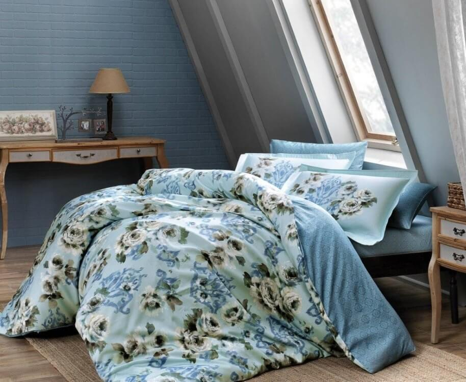 Двуспальное евро постельное белье TAC Barock Сатин-Digital