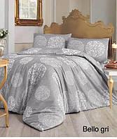 Семейное постельное белье Altinbasak Bello gri  Ранфорс
