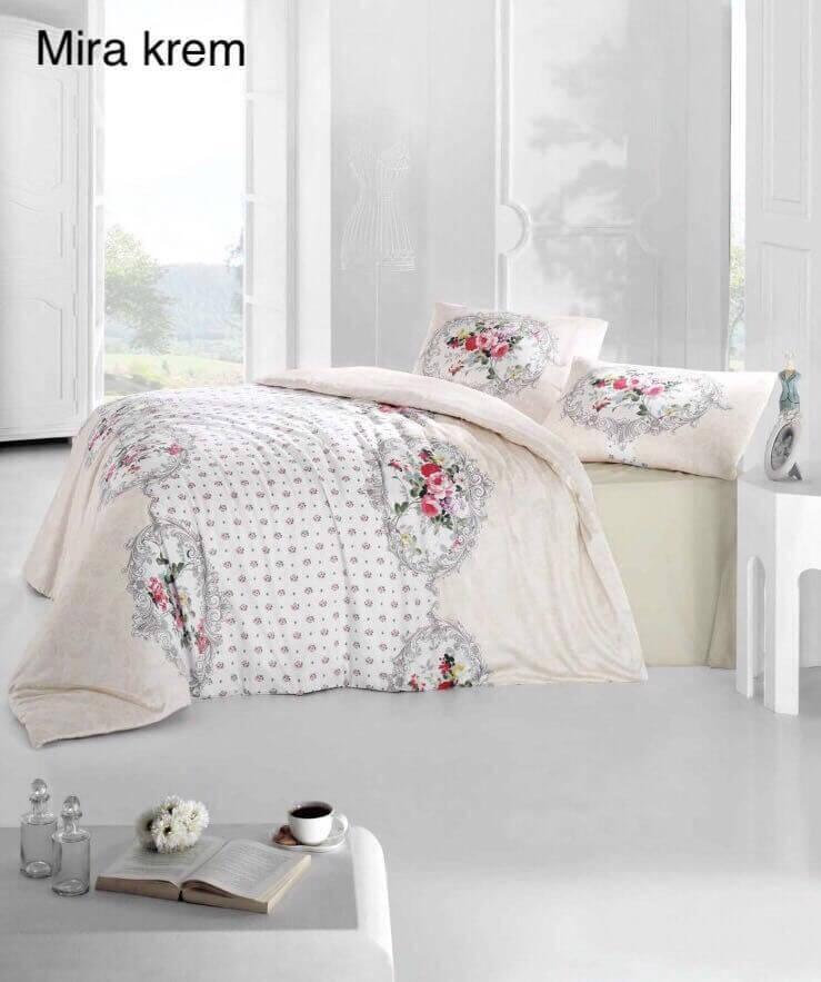 Семейное постельное белье Altinbasak Mira krem Ранфорс