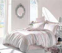 Двуспальное евро постельное белье Altinbasak Risha pembe Сатин
