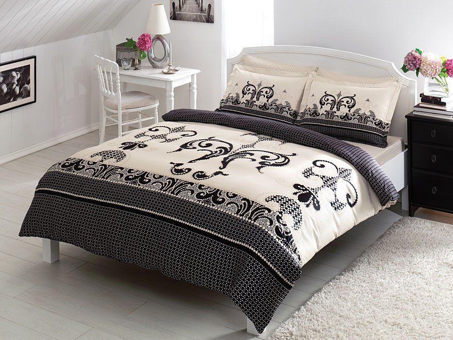 Двуспальное евро постельное белье TAC Jaden Сатин-Delux