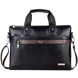Портфель-сумка мужской A4 Polo Vicuna V6601 деловой черный