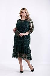 Платье для полных на торжество зеленое 62 размер