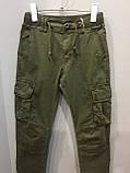Модные подростковые котоновые брюки для мальчика 134 см, фото 2