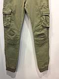 Модные подростковые котоновые брюки для мальчика 134 см, фото 3