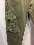 Модные подростковые котоновые брюки для мальчика 134 см, фото 4