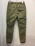 Модные подростковые котоновые брюки для мальчика 134 см, фото 5