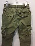 Модные подростковые котоновые брюки для мальчика 134 см, фото 6