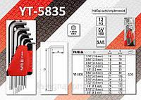 Шестигранники дюймовые длинные 12шт, YATO YT-5835