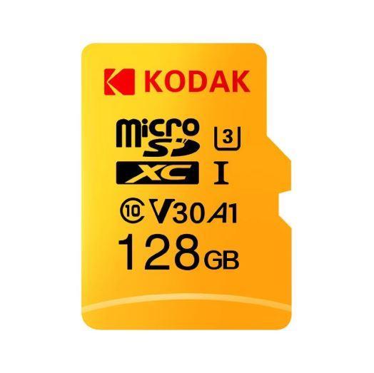 Высокоскоростная карта памяти Kodak U3 A1 V30 Micro SD 128 ГБ
