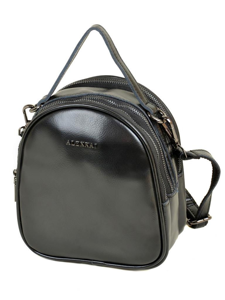 bbcd4740263b Стильный женский кожаный рюкзак черный ALEX RAI: продажа, цена в ...