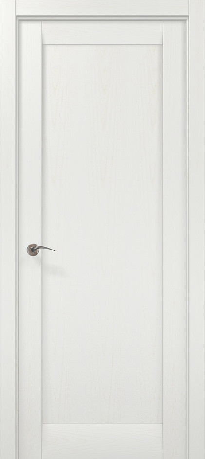 """Двери межкомнатные Папа Карло """"Millenium-00 F"""" ясень белый"""