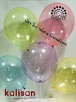 """Воздушные латексные шары """"Стекло""""12""""(30см) Кристалл Ассорти В упак:100 шт. Пр-во:""""Kalisan"""" Турция"""