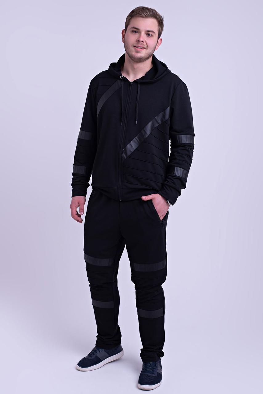 / Размерный ряд 48,50,52,54,56 / Мужской спортивный костюм Конти, для современных и активных мужчин / черный