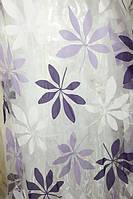 Тюль с цветами Тропик сиреневый