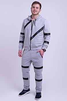 / Размерный ряд 48,50,52,54,56 / Мужской спортивный костюм Конти, для современных и активных мужчин / серый