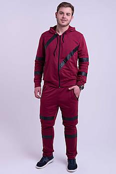/ Размерный ряд 48,50,52,54,56 / Мужской спортивный костюм Конти, для современных и активных мужчин / бордо