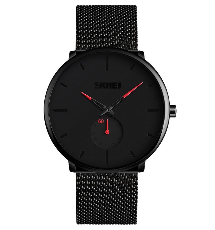 Skmei 9185 design  с красными стрелками мужские часы