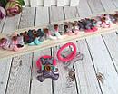 Детские резиночки для волос Мишки глиттерные цветные 10 пар/уп., фото 2
