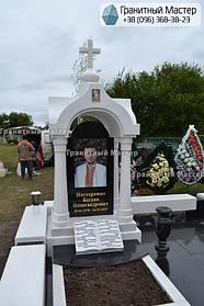Памятник в виде церкви из мрамора. Полтавская обл., с. Плехов 7