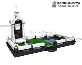 Памятник в виде церкви из мрамора. Полтавская обл., с. Плехов 31