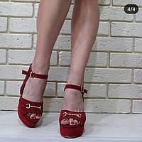 Босоножки женские на устойчивом каблуке RS 1766/4 разные цвета, фото 1