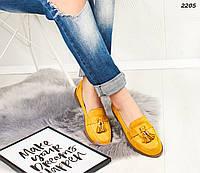 Желтые женские лоферы, фото 1