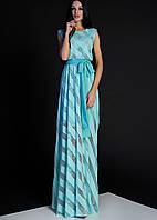 Женское платье-макси без рукавов с поясом (Раяна jd)