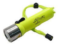 Подводный фонарь для охоты или дайвинга  police PF 06-T6 / 98D, желтый