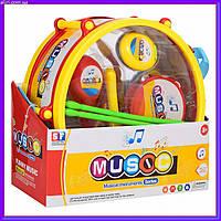 Набор музыкальных инструментов для детей (барабан,дудка,маракас) SF8133AB