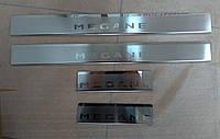 Накладки на пороги  Renault Megane III Grandtour 2009- 4шт. premium