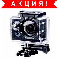 Спортивная экшн камера Full HD оригинал + вакуумные проводные наушники в подарок